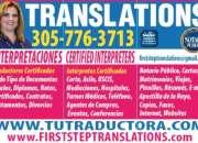 Traductores certificados, intérpretes, notarios p…