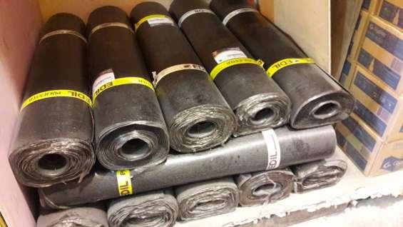 Membrana asfaltica - gravillada, arenada y liso.