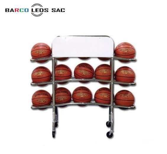 Carrito porta pelota de basquet