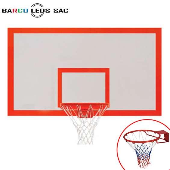 Tablero de basquet de madera